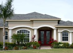 41 Ideas for exterior house siding front elevation Exterior House Siding, Dream House Exterior, Exterior House Colors, Facade House, Stucco Colors, Exterior Paint, House Outside Design, House Front Design, Small House Design