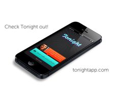 Tonight mobile application iPhone UI visual