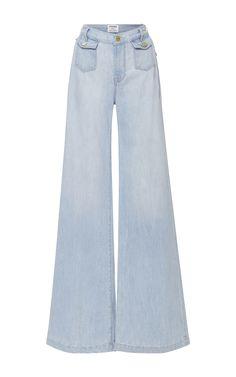 High Rise Soho Wide Leg Denim Trousers by FRAME DENIM Now Available on Moda Operandi