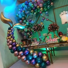WEIGAO Little Mermaid Party Supplies Mermaid Tail Balloons Arch set Decoration Mermaid Birthday Party Favors Girl Birthday Party Mermaid Theme Birthday, Little Mermaid Birthday, Little Mermaid Parties, Birthday Party Themes, Girl Birthday, Birthday Ideas, Mermaid Baby Showers, Baby Shower Mermaid Theme, Party Time