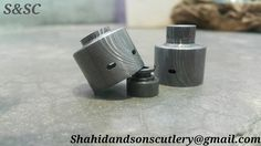 "SHAHID AND SONS CUTLERY """"  Damascus RDA hadaly cap.."