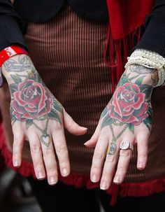 hand tattoos can be for girls too