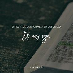 Que hermoso saber que Dios nos oye, y que el Santo Espíritu quien mora en nosotros, es nuestro intercesor