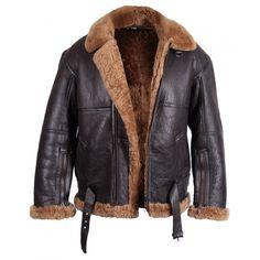 #Mens #Aviator Real #Sheepskin #Leather #Jacket #Bomber Flying Jackets BNWT - Biggest #Winter Season #Offer!