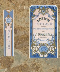 Antique Vintage French Apothecary Perfume Label 48 by OscarNaylor, $5.50