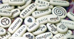 Any 400 Message Stones Pocket Words by spinningstarstudio on Etsy