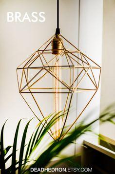 Himmeli Diamond Geometric Lamp by deadhedron on Etsy