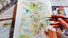 Wenn jeder gute Gedanke ein Goldfaden wird kann man vielleicht ein gutes Sicherheitsnetz daraus wirken. #GuteNachtKlex Gemalt mit @colirocolors auf @hahnemuehle Britannia 300g rauh Malerei und Produktfoto  @wandklex Kunstatelier  #wandklex #workinprogress #malerei #wellness #feelings #feelgood  #aquarell #hahnemühle #kunst #art #green #gruen #gold #golden #watercolor #watercolour #kreise #circles #abstract  #abstractpainting #experiment #universum #etsyfinds #etsygifts #etsyfindes