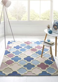 Trellis Rug, Trellis Design, Muted Colors, Pink And Blue Rug, Blue Rugs, Latest Fashion For Women, Your Style, Neutral, Palette