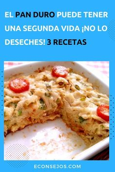 "3 Recetas con ""pan viejo"" muy apetitosas - Second-hand Tutorial and Ideas Pan Bread, Empanadas, Flan, Quick Meals, Sandwiches, Food And Drink, Cooking Recipes, Chicken, Baking"