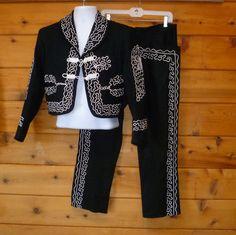 charro+suit | Charro Suit Mariachi Mexican Vintage Mens Size by BlackRockVintage