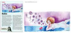 Ilustração para a crônica Retiro, escrita pela Fernanda Torres e publicada na revista Veja Rio, Editora Abril.