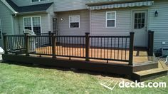 Deck Masters Plus LLC Composite deck and railing.