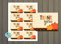 Pumpkin Fall Autumn Thanksgiving Halloween Thank you by lovebabble