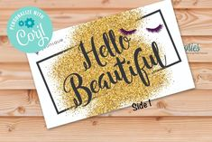 Younique Hello Beautiful with Lashes Business Card image 1 I Sent You, Independent Consultant, Chalkboard Signs, Hello Beautiful, Marketing Materials, Star Print, Teacher Appreciation, Younique, Photo Book