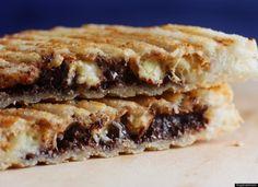 Peanut butter, banana and chocolate panini recipe