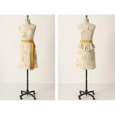 Moulinette soeurs dress Gorgeous dress used once like new condition backless , peplum . Zipper in the side and 3 gold buttons in the back size 4 anthropologie Anthropologie Dresses Mini