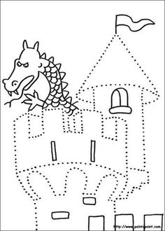 Crafts,Actvities and Worksheets for Preschool,Toddler and Kindergarten.Lots of worksheets and coloring pages. Chateau Moyen Age, Castle Crafts, Fairy Tale Crafts, Handwriting Worksheets, Pre Writing, Kindergarten Activities, Le Point, Toddler Preschool, Nursery Rhymes