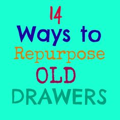 14 Fabulous Ways to Repurpose Old Drawers   Crafts a la mode