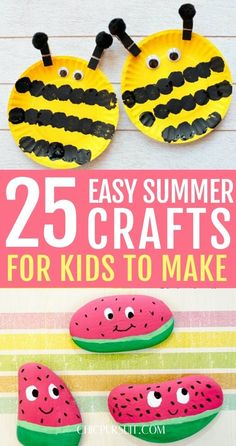 Are you looking for the best easy summer crafts for kids to keep them entertained at home? If so, you'll love these fun summer activities!