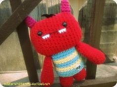 Monster free crochet pattern by A is for Amigurumi