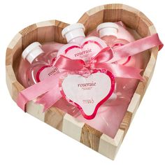 Pink Rose Bath and Body Gift Basket