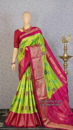 Ikkat Silk Sarees, Bollywood Saree, Pink Saree, Half Saree, Saree Wedding, Indian Dresses, Sari, Fashion, Indian Gowns
