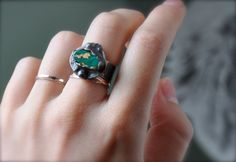 Turquoise and Silver Ring, $74