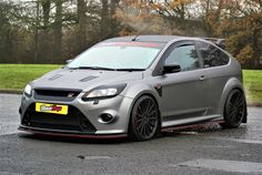 Modified Ford Focus RS vinyl wrapped in Matte Metallic by Ultimate Wraps UK