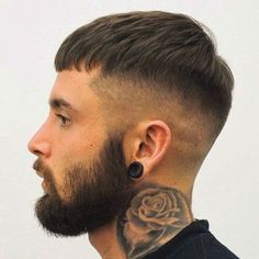 Edgar Haircut with Beard - Best Edgar Haircut Styles For Men: Cool Edgar Cut For Latino Guys #menshairstyles #menshair #menshaircuts #menshaircutideas #menshairstyletrends #mensfashion #mensstyle #fade #undercut #barbershop #barber Edgy Short Haircuts, Short Hairstyles For Thick Hair, Black Men Hairstyles, Cool Hairstyles For Men, Haircuts For Men, Short Hair Cuts, Short Hair Styles, Barber Hairstyles, Hairstyle Short