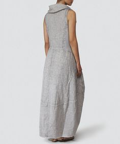 Grizas Marled Linen Dress available at Jules B