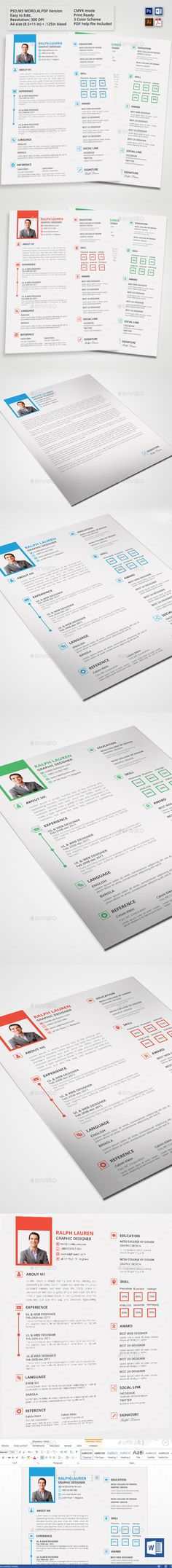 Simple Clean Resume Graphic designers, Find fonts and Resume cv - simple resumes templates