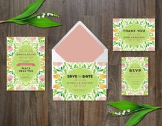 Wedding Suite watercolor flower by aticnomar on @creativemarket