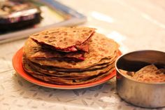 Beetroot Paneer Paratha | Stuffed Beet and Cottage Cheese Flat Bread