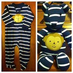 Baby Outgrows His Little Onesie — Then Mom Transforms It Into An Adorable Teddy Bear Keepsake