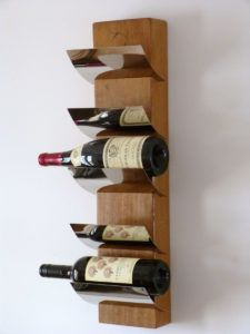Wall Mounted Wooden Wine Bottle Holder