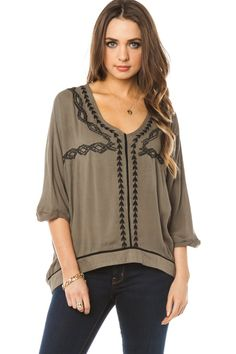 ShopSosie Style : Helene Embroidered Top