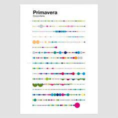 Vivaldi's Four Season visualized. (Poster Collection). Tom Edicions