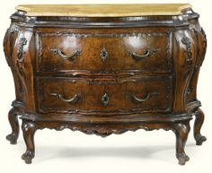 An Italian carved walnut commode, Venetian mid 18th century