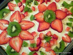 Strawberry Kiwi Pizza