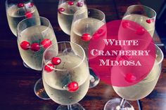 white cranberry mimosa | wold be great for day cookie exchange party etc.