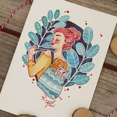 Raquel Travé Illustration — My first time using red ink for outline… It won't. Cartoon Kunst, Anime Kunst, Cartoon Art, Anime Art, Art And Illustration, Watercolor Illustration, Watercolor Art, Marker Kunst, Marker Art