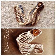 The Camden Cuff - Crochet Pattern (PDF), two sizes, permission to sell finished item. $2.50, via Etsy.