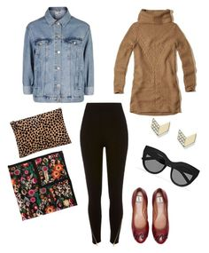 """""""Brunch with the Girls #100"""" by lizzi-humphries on Polyvore featuring River Island, Hollister Co., Topshop, ED Ellen DeGeneres, Clare V., Le Specs, FOSSIL and RED Valentino"""
