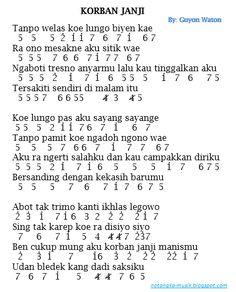 Not Angka Korban Janji : angka, korban, janji, NotAngkaLagu.com, Ideas, Notes,, Musik,, Piano, Music