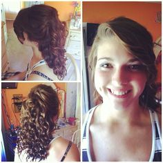 Prom hair last year on Katie! Find me and my Cosmetology portfolio on Instagram at @Beautyby_Christine