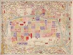Japanese maps of Kyoto @ 1880 from Stephen Ellcock via Facebook. Some excellent images on his timeline.