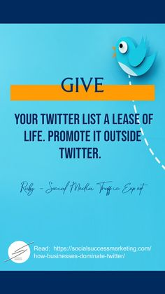 How to dominate Twitter and rule your industry #TwitterTip #contentmarketing #businesstip #socialmediamarketing Twitter For Business, Start Up Business, Business Tips, Business Marketing, Content Marketing, Social Media Marketing, Twitter Tips, Twitter Twitter, Promotion