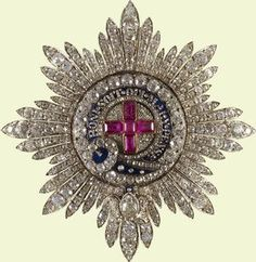 Star of the Order of the Garter. c. 1820. Presented by Queen Victoria to Prince Albert.