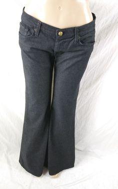 8e1c9cab75e 7 For All Mankind Women s Size 32 Super Flare Black Bell Bottoms Jeans   7ForAllMankind